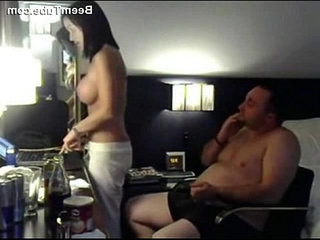 Busty fit amateur girl get hard fucking by fat guy