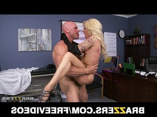 Slutty blonde paitent begs her doctor to give her some dick