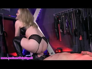 Femdom rides submissives cock
