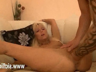 Blonde german slut fisted fucked and abused by two brutes