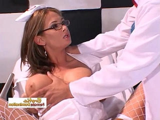 Nurse lets the doctor penetrate with his big dick