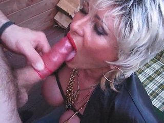 Piss busty amateur blonde whore pee and suck a dick