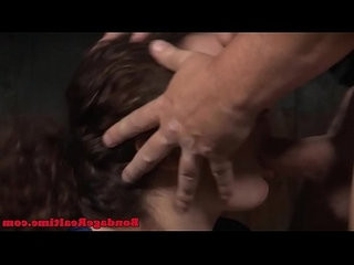 Young sub facefucked while pussy toyed