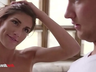 August Ames is naked in she stepbrother face and her fucks
