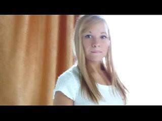 blonde teen handling a huge cock in a cam show