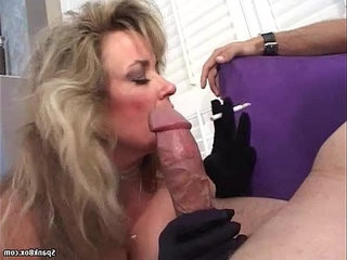Mature sucking and smoking