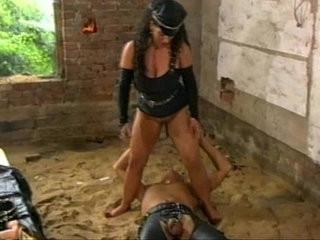 BBW Tiziana Redford fucks her devote slave with strap on dildo cooling him dow