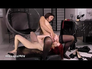 Fetish pissing lesbians get soaking wet and get intimate